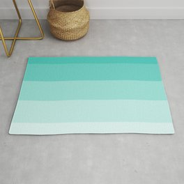 Shades of Turquoise Blue Rug