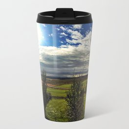 Panorama from Efsti-Dalur Farm in Laugarvatn, Iceland Travel Mug