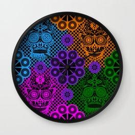 Thriller deadly rainbow picnic ecopop Wall Clock