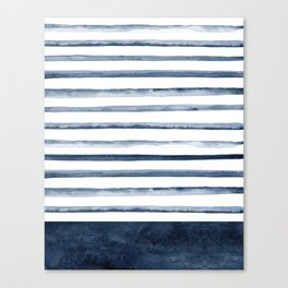 Watercolor Stripes Pattern Canvas Print