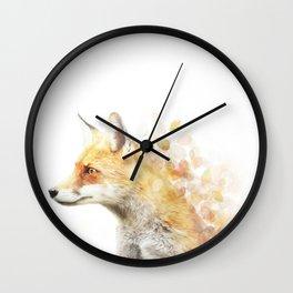 Winter Foxy #2 Wall Clock