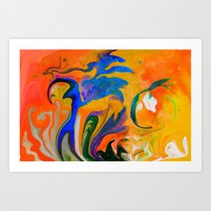 A TIME AND A PLACE FOR EVERYTHING ...ABSTRACT Art Print