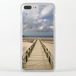 Los Lances beach, Tarifa Clear iPhone Case