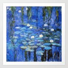 waterlilies a la Monet Art Print