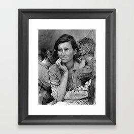 Migrant Mother Great Depression Framed Art Print