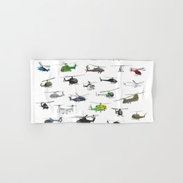 All Helicopters Pattern Hand & Bath Towel