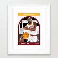 lebron Framed Art Prints featuring LeBron James by Everyplayerintheleague