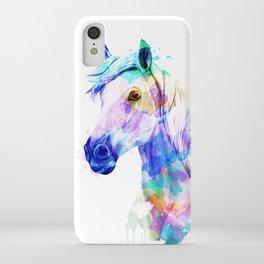 Horse Watercolor, Horse Print, Watercolor Print, Watercolor Animal, Horse Painting, Horse Gift Print iPhone Case