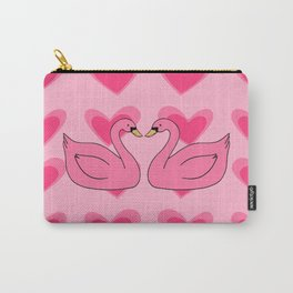 pink swan Carry-All Pouch