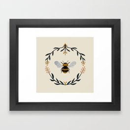 Ode to the Bumblebee (in cream) Framed Art Print