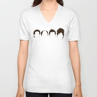 seinfeld V-neck T-shirts featuring Seinfeld Hair by Bill Pyle