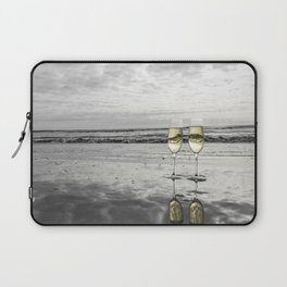 Champagne Cheers by the Ocean Laptop Sleeve