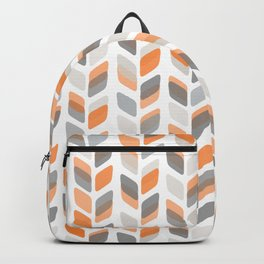 Modern Rectangle Print with Retro Abstract Leaf Pattern Backpack
