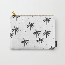 Summer monochrome palm tree holiday Carry-All Pouch