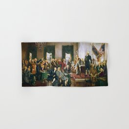 The Signing of the Constitution of the United States - Howard Chandler Christy Hand & Bath Towel