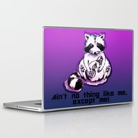 rocket raccoon Laptop & iPad Skins featuring What's raccoon? by Kasia Zajczyk