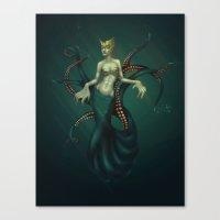 ursula Canvas Prints featuring Ursula by Baska Batbold