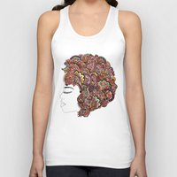 les mis Tank Tops featuring Her Hair - Les Fleur Edition by Bianca Green