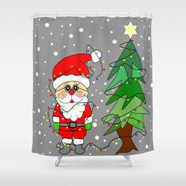 Playful Santa Shower Curtain