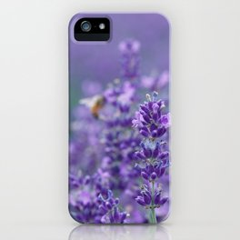 Lavender with bee in the background iPhone Case