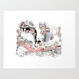Acqua Alta bookstore, Venice Art Print