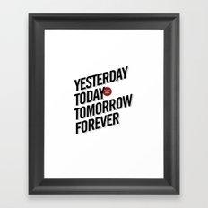 today Framed Art Print
