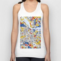 amsterdam Tank Tops featuring Amsterdam by Mondrian Maps