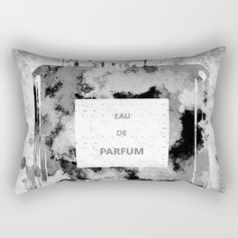 Perfume Black and White Rectangular Pillow