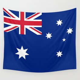 The National flag of Australia, authentic version (color & scale 1:2) Wall Tapestry