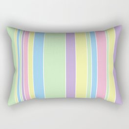 Pastel Stripes  Rectangular Pillow