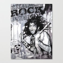 Johnny - the drummer Canvas Print