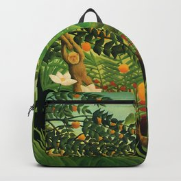 "Henri Rousseau ""Exotic landscape"", 1910 Backpack"