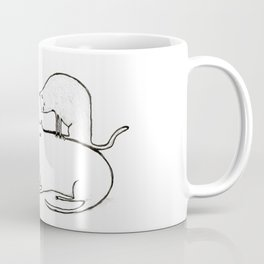Slightly Threatening Romantic Cat Coffee Mug