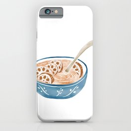 Watercolor Illustration of Chinese Cuisine - Lotus Root Soup | 莲藕汤 iPhone Case
