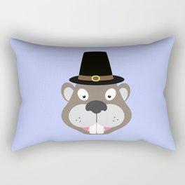 Thanksgiving Beaver Rectangular Pillow