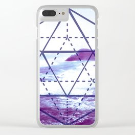 The Elements Geometric Nature Element of Water Clear iPhone Case
