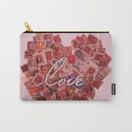 Love Letters - Pink Stamps  Carry-All Pouch