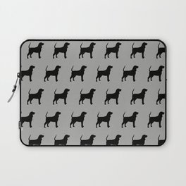 Coonhound Silhouette Laptop Sleeve