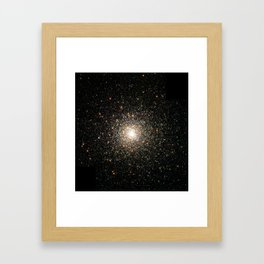 Hubble Images a Swarm of Ancient Stars Framed Art Print