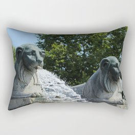Fontaine aux Lions Paris Rectangular Pillow