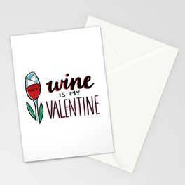 Wine is my Valentine Original Hand Lettered Artwork by Amanda Leigh from StudioHenson Stationery Cards