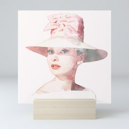 Audrey Hepburn - Watercolor Mini Art Print
