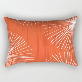 Dandelions in Red by Friztin Rectangular Pillow