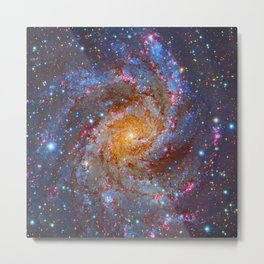 Spiral Galaxy in Outer Space Metal Print
