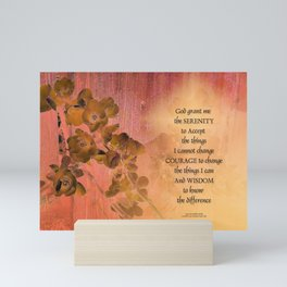 Serenity Prayer Quince and Fence One Mini Art Print
