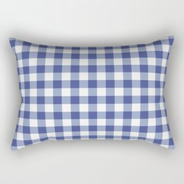 Blue and white tartan plaid. Rectangular Pillow
