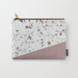 Terrazzo Texture Antique Pink #6 Carry-All Pouch