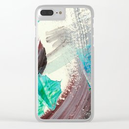 Snowy Walk in the Woods 04 Clear iPhone Case