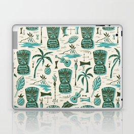 Tropical Tiki - Cream & Aqua Laptop & iPad Skin