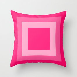 Pink Square Design Throw Pillow